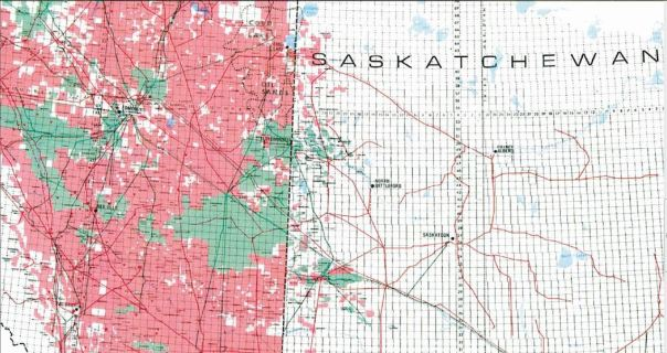 AB vs SK oil and gas map 2003 zoomed