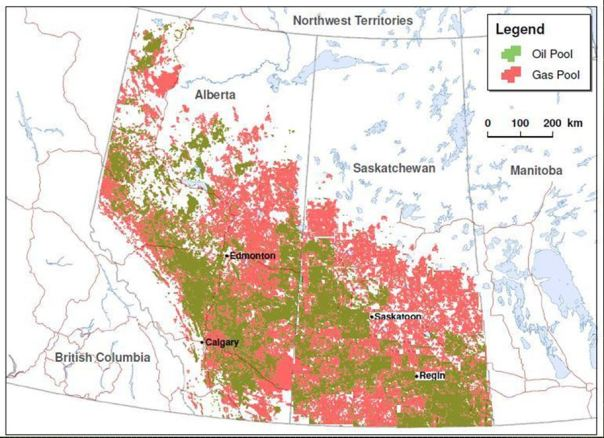 AB vs SK oil and gas potential SK geological survey