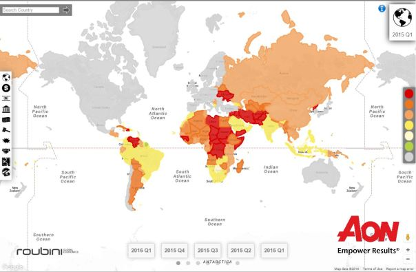 Political and terrorism risk aon and maplecroft prosperity aon political risk map q1 2015 sciox Gallery