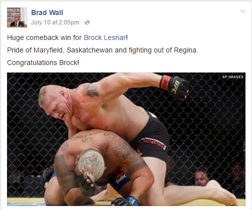 Wall on Lesnar