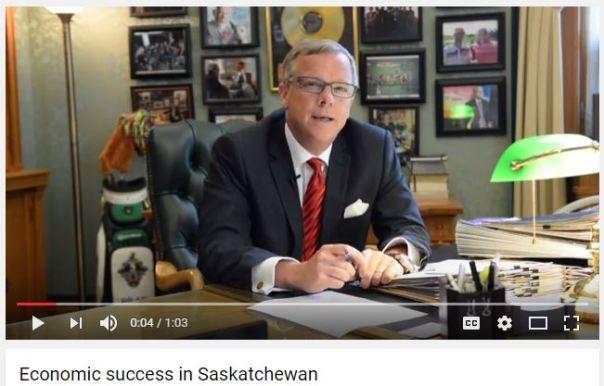Brad Wall - economic success in Saskatchewan Aug 2016