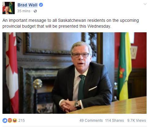 Wall prebudget announcement March 2017
