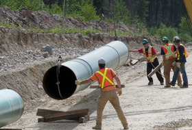 Kinder Morgan pipe