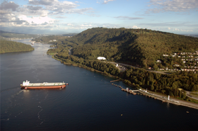 Kinder Morgan tanker at terminal