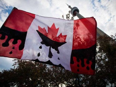pipeline bloody canadian flag