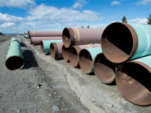 Trans Mountain pipe